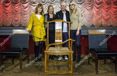 The Image Made Available on 06 November 2013 Shows the Swedish Members of the Stockholm Film Festival Jury (l-r) Actress Lena Endre Producer Helena Danielsson Film Director Kristian Petri and Actress Moa Gammel Posing with the Empty Chair of Their Fellow Jury Member Chinese Dissident Artist Ai Weiwei in Stockholm Sweden on 05 November the Chair was Sent by Ai Weiwei to Represent Him As a Commentary to His Forced Non Attendance the Chair Built in a Traditional Chinese Style is Impossible to Use with a Curved Cane Fixed Diagonally Across the Seat the Film Festival Runs From 06 to 17 November Sweden Stockholm