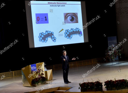 The Nobel Prize in Chemistry Laureate French Chemist Jean Pierre Sauvage Holds His Nobel Lecture at the Aula Magna Lecture Hall at the Stockholm University in Stockholm Sweden 08 December 2016 the Nobel Prize Award Ceremony 2016 Will Happen on 10 December 2016 Sweden Stockholm