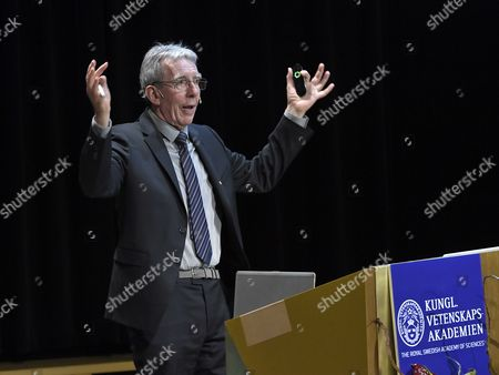 The Nobel Prize in Chemistry Laureate Jean Pierre Sauvage Holds His Nobel Lecture at the Aula Magna Lecture Hall at the Stockholm University in Stockholm Sweden 08 December 2016 the Nobel Prize Award Ceremony 2016 Will Happen on 10 December 2016 Sweden Stockholm