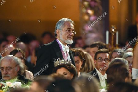 Medicine Laureate Yoshinori Ohsumi About to Deliver His Banquet Speech at the 2016 Nobel Prize Banquet at the Stockholm City Hall in Stockholm Sweden 10 December 2016 Sweden Stockholm