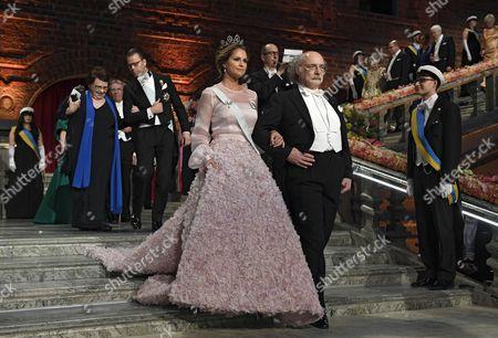 Princess Madeleine of Sweden and Nobel Physics Laureate Duncan Haldane Arrive For the 2016 Nobel Prize Award Banquet During the 2016 Nobel Prize Award Ceremony at the Stockholm Concert Hall in Stockholm Sweden 10 December 2016 Sweden Stockholm