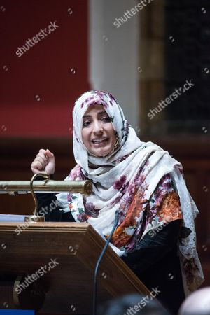 Tawakel Karman, Yemeni journalist, politician and human rights activist, Awarded Nobel Peace Prize in 2011 and Founder of 'Women Journalists without Chains'