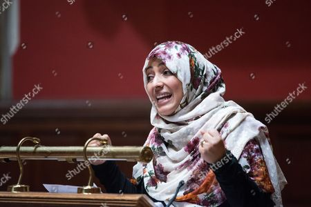 Stock Image of Tawakel Karman, Yemeni journalist, politician and human rights activist, Awarded Nobel Peace Prize in 2011 and Founder of 'Women Journalists without Chains'