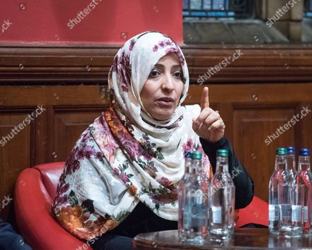 Stock Photo of Tawakel Karman, Yemeni journalist, politician and human rights activist, Awarded Nobel Peace Prize in 2011 and Founder of 'Women Journalists without Chains'