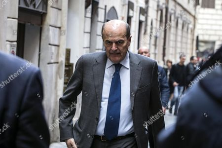 Italian Pier Luigi Bersani arrives for a meeting of Partido Democratico (Democratic Party, PD) meeting in Rome, Italy, 13 February 2017. At the meeting, PD party leader and former Italian prime minister Renzi effectively announced his resignation by telling a PD meeting it was the end of his 'cycle' at the head of the centre-left group.