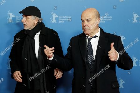 Spanish director Fernando Trueba and Spanish actor Antonio Resines arrive for the premiere of 'La Reina de Espana' (The Queen of Spain) during the 67th annual Berlin Film Festival, in Berlin, Germany, 13 February 2017. The movie is presented in the Berlinale Special at the Berlinale that runs from 09 to 19 February.