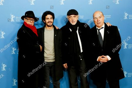 (L-R) Festival director Dieter Kosslick, Argentinian actor Chino Darin, Spanish director Fernando Trueba and Spanish actor Antonio Resines arrive for the premiere of 'La Reina de Espana' (The Queen of Spain) during the 67th annual Berlin Film Festival, in Berlin, Germany, 13 February 2017. The movie is presented in the Berlinale Special at the Berlinale that runs from 09 to 19 February.