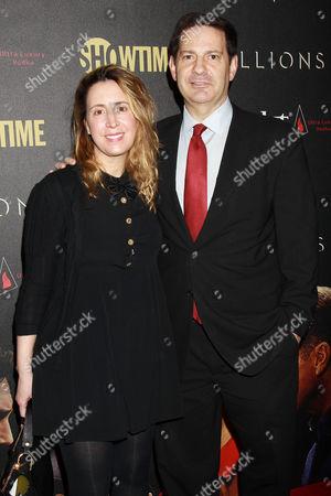 Stock Photo of Mark Halperin with Wife