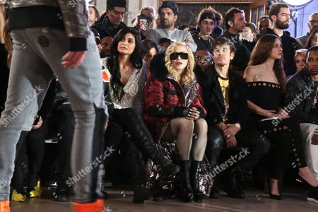 Kylie Jenner, Madonna, Steven Klein in the front row