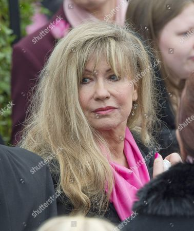 Funeral Of Kirsty Howard (pictured Former Corrie Actress Sue Jenkins) Who Was Given Weeks To Live At The Age Of Four Passed Away Recently Aged 20 At St. Michaels Of All The Angels Church Northern Moor Manchester. 3/11/15.