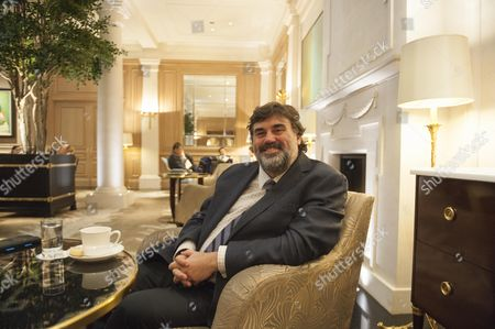 Martin Samuel In The Lobby Bar At The Hotel Baur Au Lac Zurich Switzerland Where The Fifa Officials Were Picked Up For Investigation Earlier This Year.
