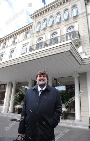 Editorial image of Martin Samuel Visits The Hotel Baur Au Lac Zurich Switzerland Where Fifa Officials Were Picked Up For Investigation Earlier This Year.