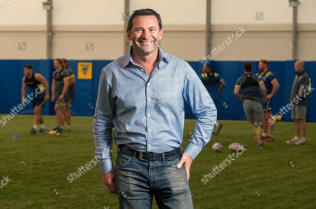 Stock Photo of Warrington Wolves Rugby League Roger Draper New Ceo - Interview.