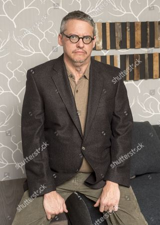 Stock Image of American Film Director Adam Mckay Talking To Baz Bamigboye About His New Film 'the Big Shorts'. 04.11.15.