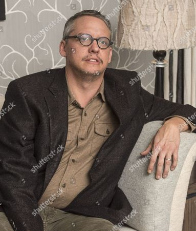 Editorial image of American Film Director Adam Mckay Talking To Baz Bamigboye About His New Film 'the Big Shorts'. Picture David Parker 04.11.15.