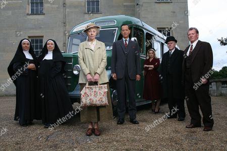 'Marple'  TV - 2008 - Nemesis -  Filming, cast. Amanda Burton, Anne Reid, Geraldine McEwan, Richard E Grant, Laura Michelle Kelly, Adrian Rawlins, Johnny Briggs.