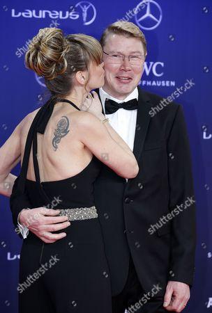 Stock Image of Mika Hakkinen and Marketa Remesova