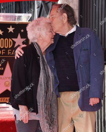 George Segal and wife Sonia Schultz Greenbaum