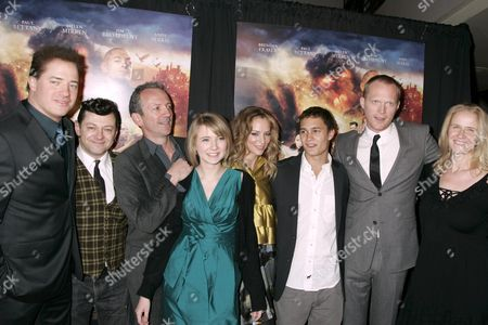 'Inkheart' cast; Brendan Fraser, Andy Serkis, Iain Softley, Eliza Hope Bennett, Sienna Guillory, Rafi Gavron, Paul Bettany and Cornelia Funke