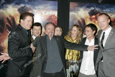 Stock Image of Brendan Fraser, Andy Serkis, director Iain Softley, Eliza Hope Bennett, Sienna Guillory, Rafi Gavron and Paul Bettany
