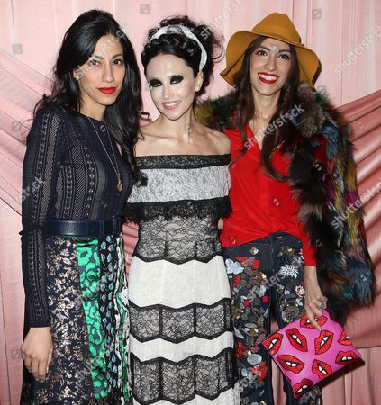 Huma Abedin, Stacey Bendet and Heba Abedin