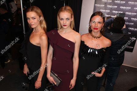 Editorial image of Chiara Boni La Petite Robe show, Arrivals, Fall Winter 2017, New York Fashion Week, USA - 14 Feb 2017
