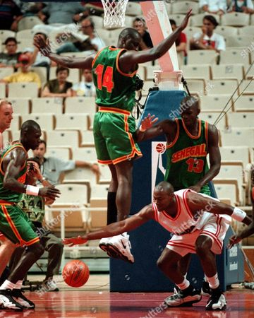 Editorial picture of Basketball-canada/senegal