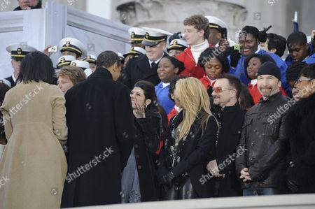 President-elect Barack Obama meets Marisa Tomei, Shakira, Bono, the Edge and Bettye LaVette