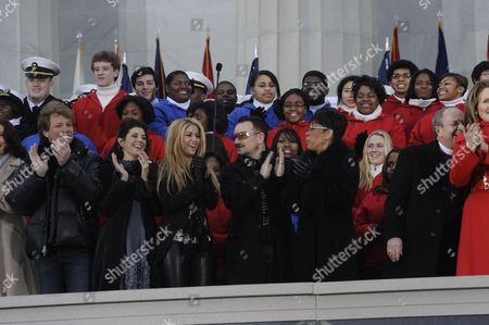 Editorial image of 'We Are One' Barack Obama Inaugural Celebration concert at the Lincoln Memorial in Washington DC, America - 18 Jan 2009