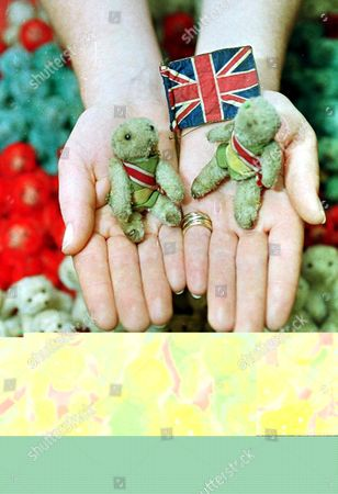 Stock Image of London United Kingdom: Grubby Mc and Young Mc Part of an Army of Hundreds of Miniature Teddy Bears Owned by Distinguished Officers and Twin Brothers Colonel Sir Guy Campbell Late Kings Royal Rifles (60th Regiment) and M United Kingdom London