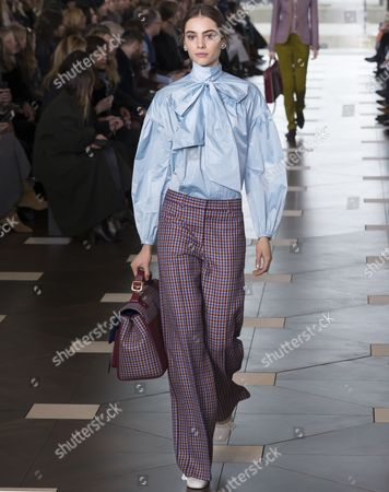 Stock Picture of Romy Schonberger on the catwalk