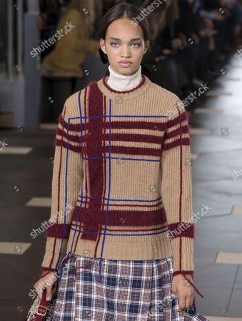 Ellen Rosa on the catwalk