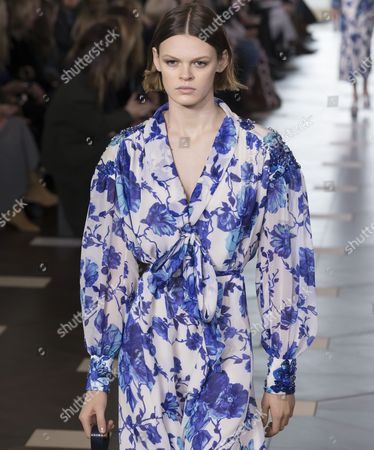 Cara Taylor on the catwalk