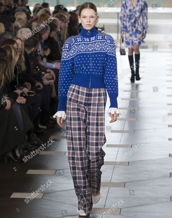 Editorial image of Tory Burch show, Runway, Fall Winter 2017, New York Fashion Week, USA - 14 Feb 2017
