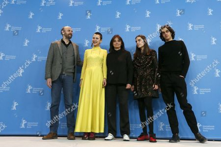 (L-R) Portuguese actors, Joao Pedro Vaz, Alice Albergaria Borges, director Teresa Villaverde, Clara Jost and Tomas Gomes pose during the photocall for 'Colo' during the 67th annual Berlin Film Festival, in Berlin, Germany, 15 February 2017. The movie is presented in the Official Competition at the Berlinale that runs from 09 to 19 February.