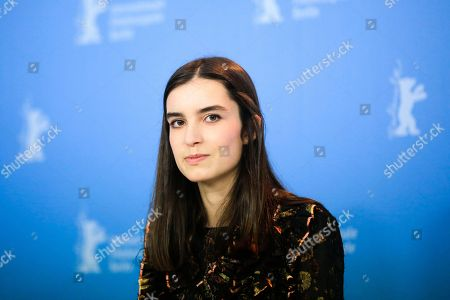 Stock Photo of Actress Clara Jost poses for the photographers during a photo call for the film 'Colo' at the 2017 Berlinale Film Festival in Berlin, Germany