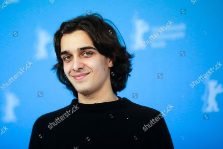 Actor Joao Pedro Vaz poses for the photographers during a photo call for the film 'Colo' at the 2017 Berlinale Film Festival in Berlin, Germany
