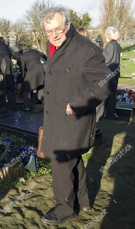 The Funeral Of Britains Best Known Madam Cynthia Payne Which Took Place At South London Crematium Today 9th December 2015. Monty Python Member Terry Jones At The Service.