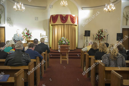 The Funeral Of Britains Best Known Madam Cynthia Payne Which Took Place At South London Crematium Today 9th December 2015.