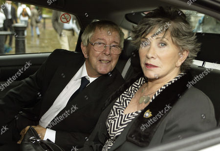 Blue Peter presenters at Buckingham Palace - John Noakes and Valerie Singleton