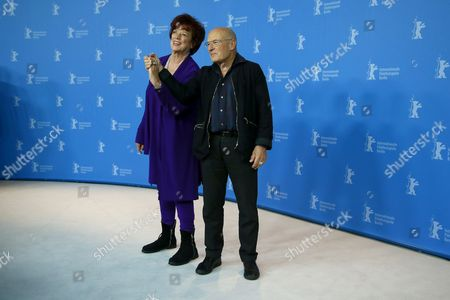 Producer Regina Ziegler (L) and German director Volker Schloendorff pose during the photocall for 'Return to Montauk ' during the 67th annual Berlin Film Festival, in Berlin, Germany, 15 February 2017. The movie is presented in the Official Competition at the Berlinale that runs from 09 to 19 February.