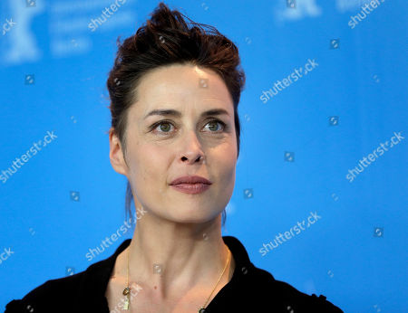 Actress Susanne Wolff poses for the photographers during a photo call for the film 'Return to Montauk' at the 2017 Berlinale Film Festival in Berlin, Germany