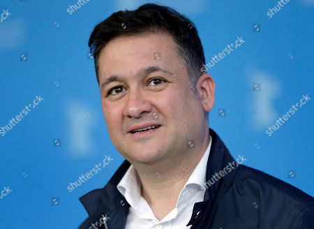Actor Secun de la Rosa poses for the photographers during a photo call for the film 'The Bar' at the 2017 Berlinale Film Festival in Berlin, Germany
