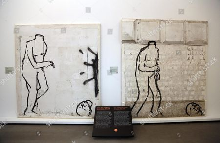 The Artwork 'Dal Fumetto Allo Stop-motion' (from Cartoons to Stop-motion) by Blu is Displayed in the Exhibition 'Street Art Banksy & Co - L'arte Allo Stato Urbano' (the Art to Urban Status) at the Museo Della Storia at Pepoli Palace in Bologna Italy 17 March 2016 the Exhibition Opens to the Public From 18 March to 26 June Italy Bologna