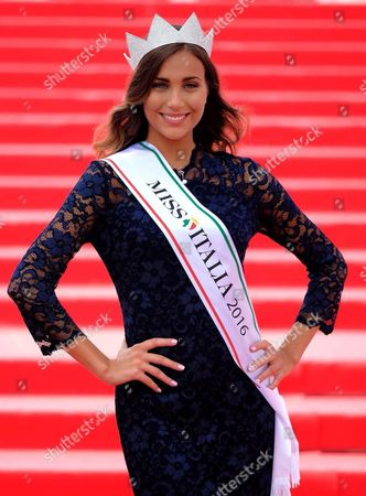 Rachele Risaliti Elected Miss Italia 2016 Poses For a Photo in Jesolo Italy 11 September 2016 Italy Jesolo