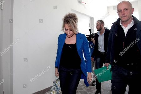Silvio Berlusconi's Daughter and Head of Fininvest Marina Berlusconi Arrives at the San Raffaele Hospital to Pay Her Father a Visit Milan Italy 10 June 2016 Former Italian Premier Silvio Berlusconi is to Undergo Surgery Next Week to Have a New Aortic Valve After Tests at Milan's San Raffaele Hospital Found He was Suffering From 'Severe Aortic Insufficiency' That Had Placed His Life at Risk Italy Milan