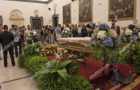 The Burial Chamber of Italian Actor Carlo Pedersoli Also Known As Bud Spencer at the Protomoteca Hall in Campidoglio Palace in Rome Italy 29 June 2016 Pedersoli Died on 27 June 2016 at 86 Years Old Italy Rome