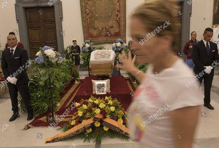 Guests Pay Their Respects to Italian Actor Carlo Pedersoli Also Known As Bud Spencer at the Protomoteca Hall in Campidoglio Palace in Rome Italy 29 June 2016 Pedersoli Died on 27 June 2016 at 86 Years Old Italy Rome
