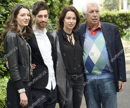 (l-r) Italian Actors/cast Members Francesca Pasquini Moise' Curia Stefania Rocca and Italian Director Vittorio Sindoni Pose For Photographs During the Photocall For the Movie'abbraccialo Per Me' (lit Embrace Him For Me) in Rome Italy 13 April 2016 the Movie Will Be Released in Italian Theaters on 21 April Italy Rome (italy)