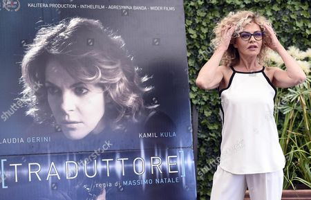 Italian Actress Cast Member Eva Grimaldi Poses For Photographs During the Photo Call For the Movie 'Il Traduttore' (the Translator) in Rome Italy 24 May 2016 the Movie Will Be Released in Italian Theaters on 26 May Italy Roma